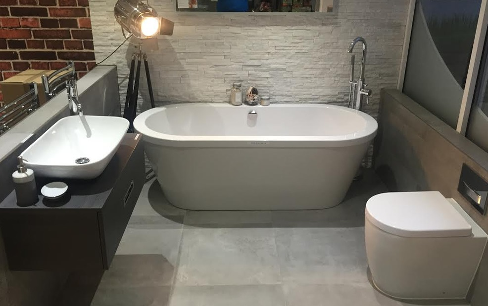 A bathroom in the 3Flo Showroom